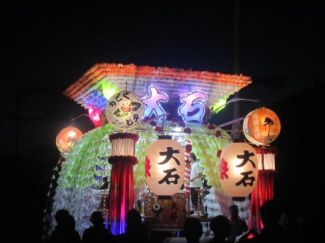 大石祭組の山車@陸前高田