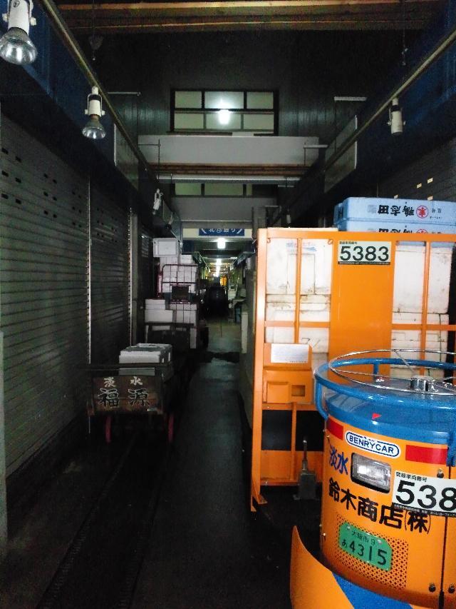 水産物エリア通路/大阪中央卸売市場