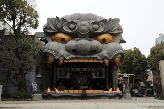 難波八坂神社 獅子舞台正面