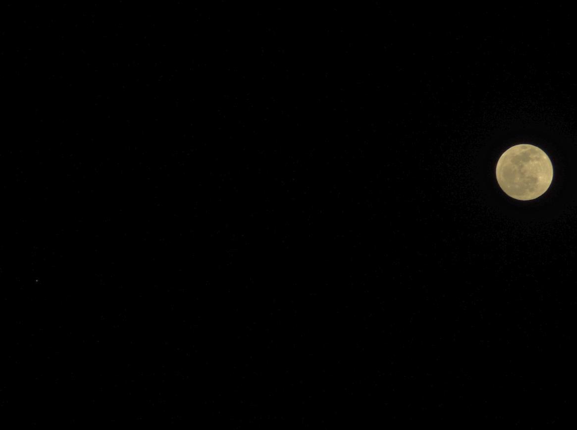 月と火星のランデヴー