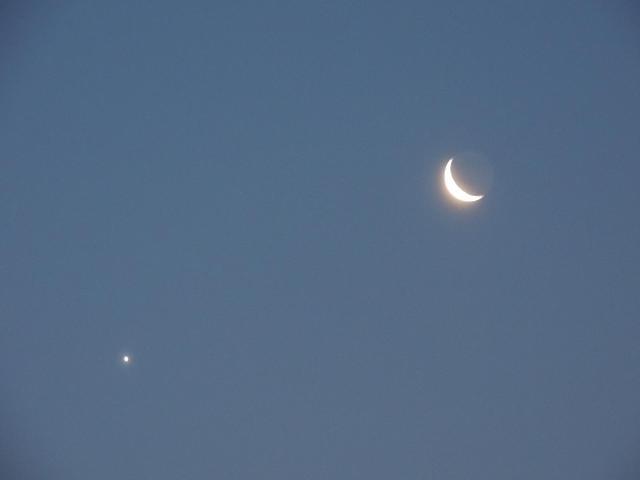 明けの明星と下弦の三日月の接近