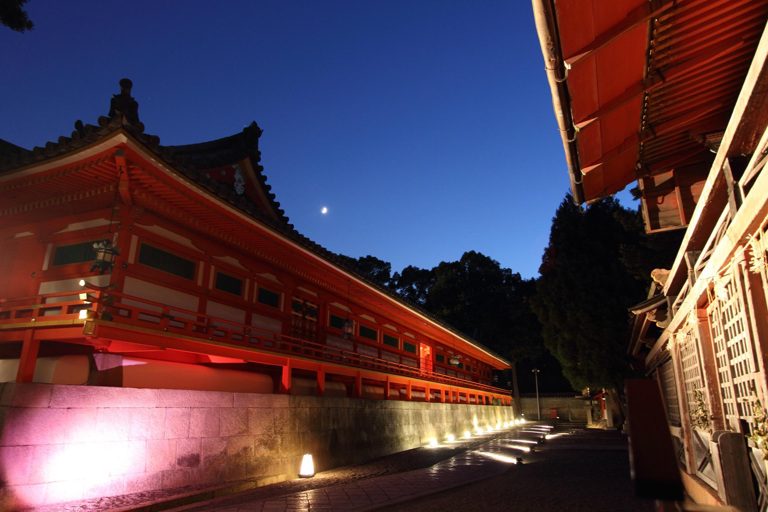 京都 石清水八幡宮 ライトアップ