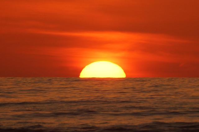 1月29日の夕陽