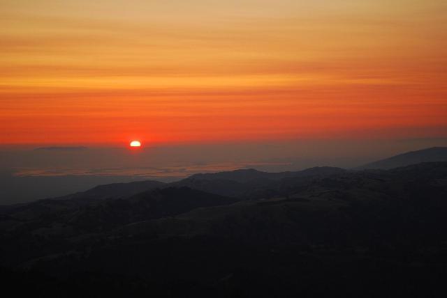 絵の様な夕陽