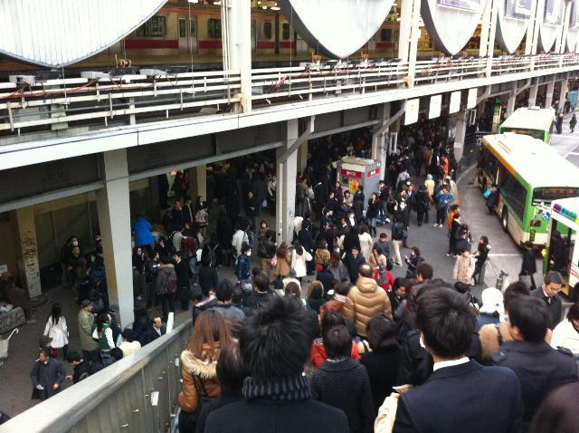 渋谷はすでに大混乱