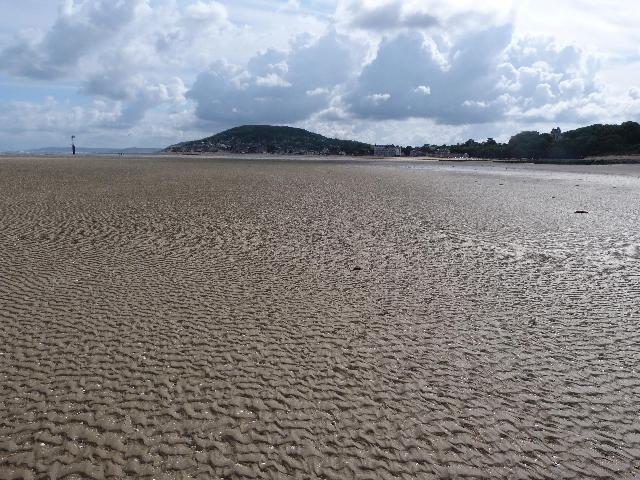 引き潮の浜