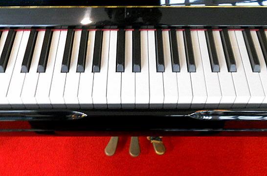 自動演奏のピアノの鍵盤です
