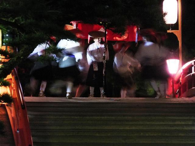月夜の住吉踊り