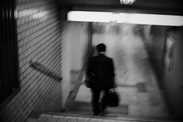 仕事帰り・・・地下鉄へ