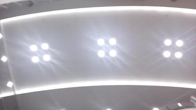 天井の照明です