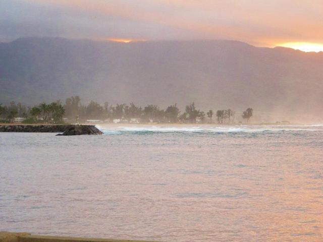 Hawaii Oahu ノースショアの夕暮れ