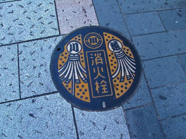 川越のこの消火栓は一級の芸術品です