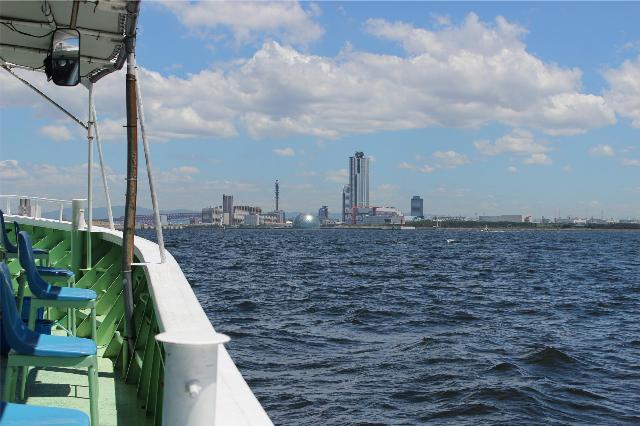 釣船からの風景