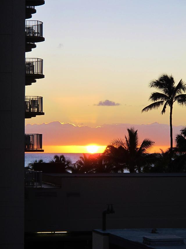 Waikikiの夕日