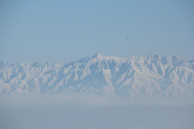 北京には雪山?