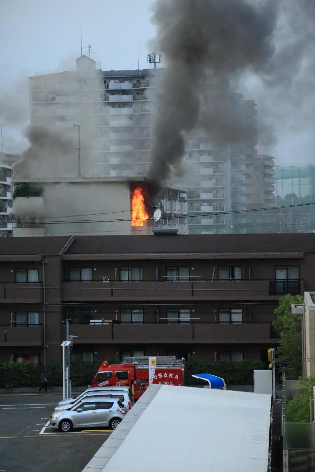 2014/07/11 午後6時30分頃大阪鶴見区諸口で火事